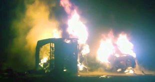 pakistan oil tanker bus accident
