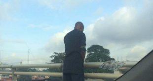 man urinates off bridge Several injured