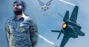 US Airman Harpreetinder Singh Bajwa