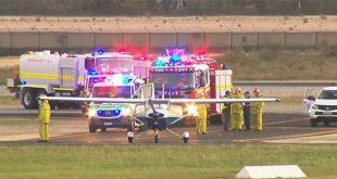 Trainee Pilot safely Lands Plane